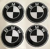 Unbekannt BMW Schwarz Weiß ★4 Stück Aufkleber Emblem Felgen Nabendeckel Radkappen 60mm