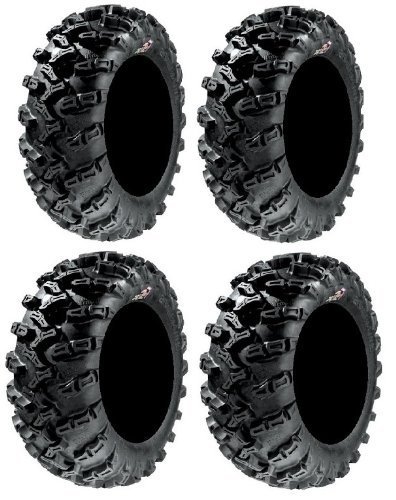 Full set of GBC Grim Reaper Radial (8ply) 26x9-14 and 26x11-14 ATV Tires (4) by (Punti Grim)