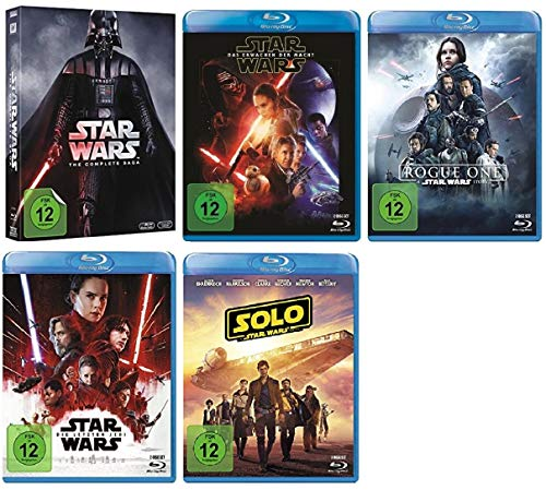 Star Wars Box 1-6 + Erwachen der Macht + Rogue One + Die letzten Jedi + Solo: A Star Wars Story [Blu-ray Set] (Star Wars Blu-ray Set)
