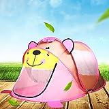 Spielzelt Babyzelt Tipi Spielzelt füR Kinder Kleiner Tiger Spielhaus Zelt Tasche füR Zuhause & Im Garten Drinnen und DraußEn,Pink