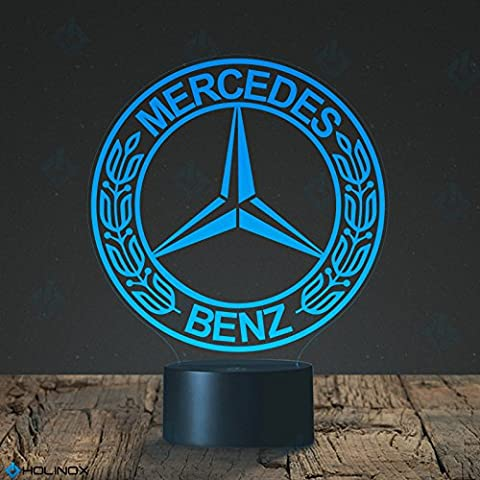 MERCEDES BENZ Logo Lamp, logo design, Best Gift, Decoration lamp, 7 Color Mode, Awesome gifts (MT110)