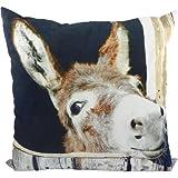 Mars & More - Kissen - Winter Esel - Baumwolle - 50 x 50 cm - mit Füllung