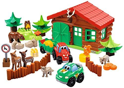 Jouets Ecoiffier -3040 - La ferme maison forestière Abrick - Jeu de construction pour enfants - Dès 18 mois - Fabriqué en France