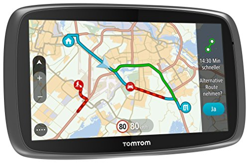 Preisvergleich Produktbild TomTom Go 6100 World Navigationssystem (15 cm (6 Zoll) kapazitives Touch Display, Magnethalterung, Sprachsteuerung, mit Traffic/Lifetime Weltkarten)