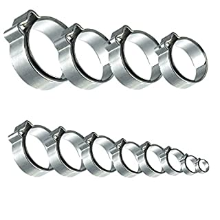 1 Ohr Schlauchklemmen mit Einlagering Edelstahl Klemmbereich: 13,9-16,1 mm, 25 Stück