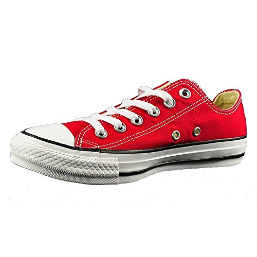 Femme Converse All Star Chuck Taylor Baskets Montantes Basses Rouges