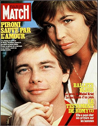 Paris Match n° 1745 du 05 Novembre 1982 - Didier Pironi et Véronique Jannot, Chantal Goya, Romy Schneider
