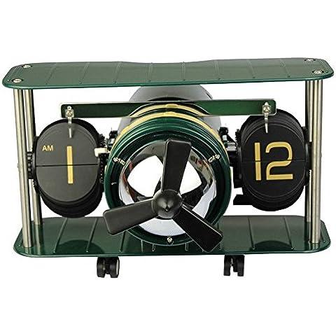 GG Casa creativa. orologio automatico-flop. Germania flip clock. europeo orologio. elicottero aereo modello piano ,