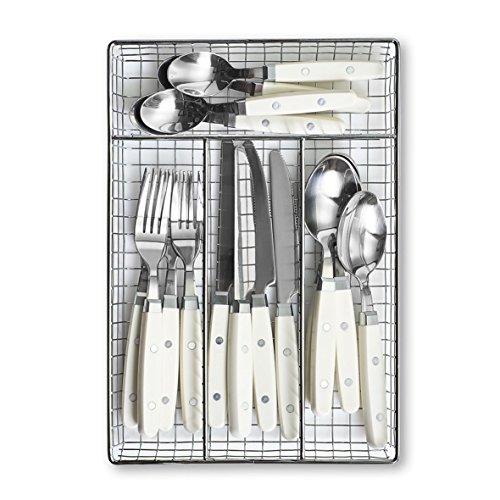 Zeller 24965 Besteck-Set Edelstahl 30.5 x 21 x 3.5 cm 17 Einheiten, weiß