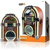 BasicXL BXL-JB10 - Rocola con diseño de los años 60 con reproductor de CD (2 x 2 W)