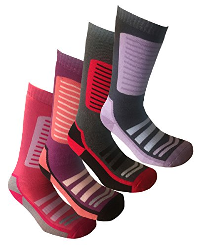 i-Smalls Ski Socken Set von 4 Long High Performance Thermische Frau (EUR 37-41) - High-performance-knöchel-socken