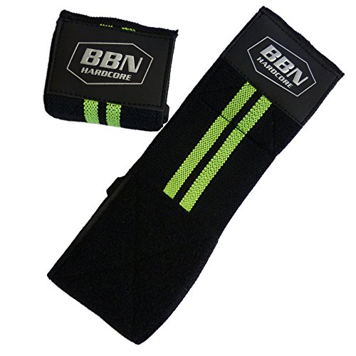 BBN Hardcore - Bandagen Handgelenkbandagen, Paar, One Size, grün