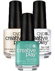 CND Creative Play My Mo Mint Nr. 429 13,5 ml mit Creative Play Base Coat 13,5 ml und Top Coat 13,5 ml, 1er Pack (1 x 0.041 l)