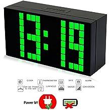 nouveau mode trois dimension 16 5cm digitale réveil led horloge