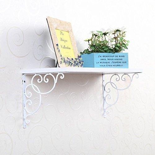 Coppia di supporto da parete supporto per Display 20cm Surpass Scaffale cistems in ghisa staffa di mensola da parete in bianco