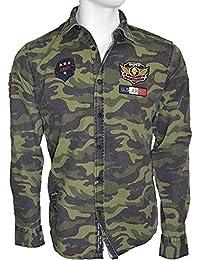 Brandneu !!! Modisches Herrenhemd von CARISMA in im Militarystyle camouflage khaki CRM8349