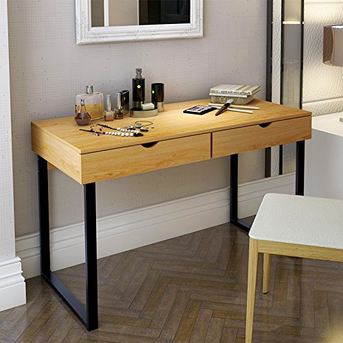 tribesigns modern stylish computer desk home office study writing table workstation with 2. Black Bedroom Furniture Sets. Home Design Ideas