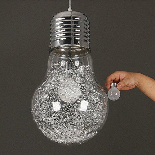 Lampada a sospensione a soffitto in vetro per lampadari con lampadario a LED a forma di lampadario Argento