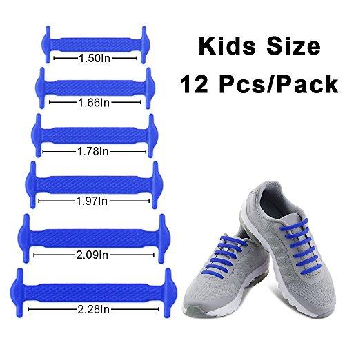 2 Paare Schnürsenkel für Kinder und Erwachsene Wasserdichte Silikon Wohnung Elastisch Schuhband Sportlich Spitzenborte für Sneaker Converse