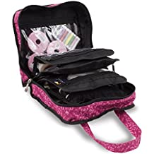 Sewing Accessories Case, Knitting and Craft Organiser Storage Bag in Imperial Pink by Roo Beauty