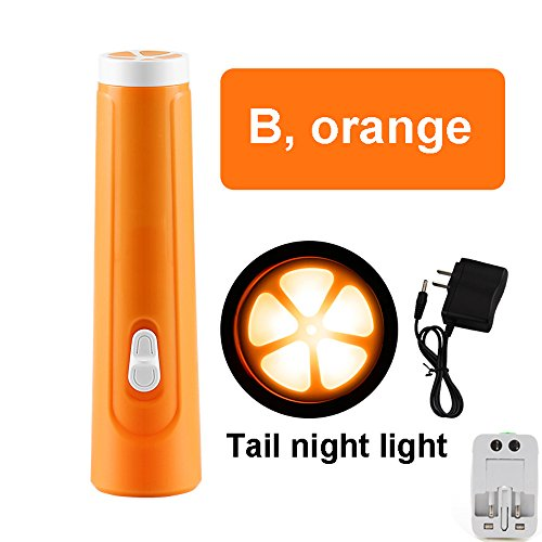 TLMYDD LED Flashlight Mini Rechargeable Home Portable Small Flashlight Outdoor Travel Searchlight flashlight (color : ORANGE)