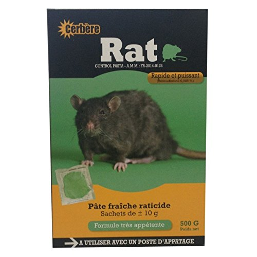 Appât pâte fraiche pour rats 500g