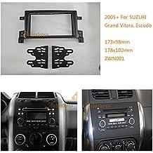 Autostereo - Set de marco adaptador para radio de coche y unidad de CD, para Suzuki Grand Vitara Escudo 2005