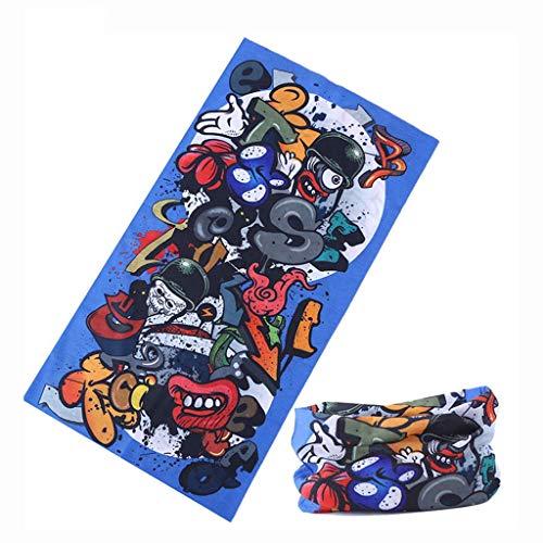 SJY Maske Multifunktions Magic Headscarf Outdoor Radfahren Lätzchen Schweiß Absorbierende Maske Sonnencreme Anti-UV-Maske Männer Und Frauen Multifunktions-Kopfbedeckungen Durable,A -