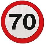 70. Geburtstag 20Papier Servietten Verkehrsschild Alter Party