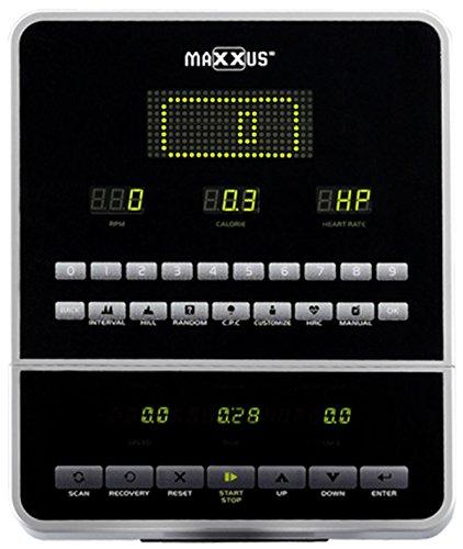 MAXXUS® Ellipsentrainer CX 10.0 – Crosstrainer in Studio-Qualität mit Frontantrieb und Stromgenerator. Gelenkschonende, flache und elliptische Bewegung. 180kg Benutzergewicht, 30kg Schwungmasse, Trainingsprogramme, Pulsempfänger für Polar® Pulsgurt. 5 Jahre Garantie! - 4