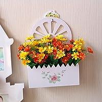 XIN HOME Holz  Hängenden Korb Simulation Künstliche Blumen Kleine  Chrysantheme Blume Fake Blume Anzug Wohnzimmer