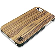 UTECTION iPhone SE / 5s / 5 Funda de Madera - Carcasa cubierta protectora [Ultra delgada] - Cáscara de madera 100% natural PREMIUM para iPhone SE / 5s / 5 [Ultra resistente] | Nuez