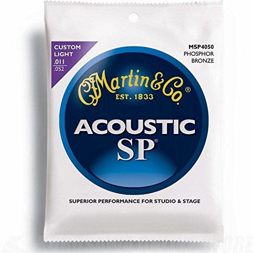 Martin SP Gitarrensaiten für Akustikgitarren (92/8, Phosphor-Bronze-Umwicklung, Stärke Custom / Light 0.011 - 0.052)