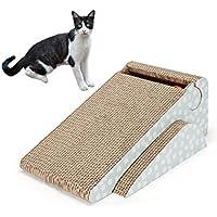 Rascador para gatos con diseño de gato y campana de gato para cachorro, juguetes con cascabel para gatos