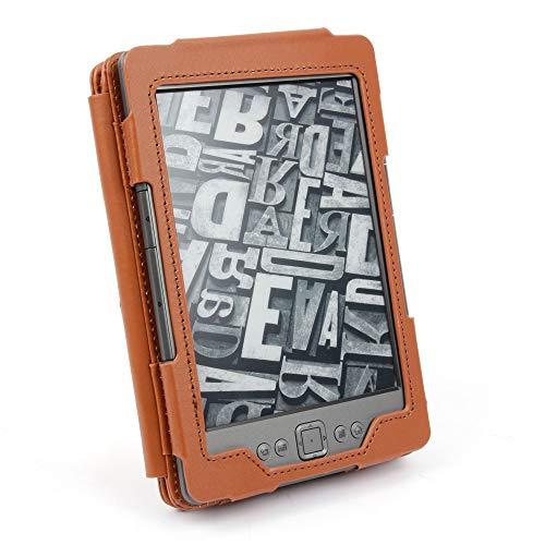 DURAGADGET Schutzhülle im Buch Stil - maßgefertigt - für Amazon Kindle eReader 6 Zoll E Ink-Display + USB-Premium EU/DE Ladestecker, schwarz