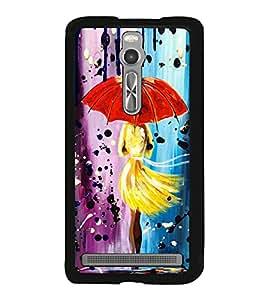 Girl with Umbrella 2D Hard Polycarbonate Designer Back Case Cover for Asus Zenfone 2 ZE551ML