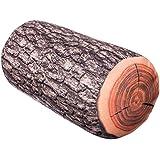 """Almohadas con diseño de """"bloque de madera"""" - Marrón de aproximadamente 39 x 17 cm - Almohada en el tronco del árbol Óptica como idea de regalo - Grinscard"""