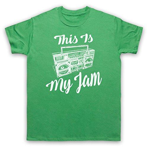 This Is My Jam Music Slogan Herren T-Shirt Grun