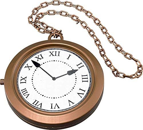 Halskette Riesen Jumbo Uhr Ø 20cm Steampunk Rapper Hutmacher Schick Party Medaillon