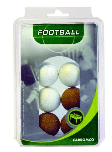 Carromco - Pelotas de futbolín (3 corcho natural, 3 corcho blanco)