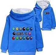 Entre nosotros suéter suave abrigos de invierno para niños y niñas juego de dibujos animados sudaderas con cap