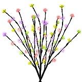 ASAB Solar Power 60LED Baum AST Blatt Lichter Weg Grenzen Outdoor Garten Terrasse Leaf/Blossom Leuchtmittel Designs Blossom - Multi