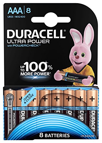 Duracell Ultra Power Typ AAA Alkaline Batterien, 8er Pack