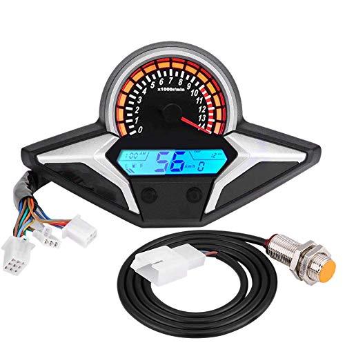 Semoic Motorrad 12V Meter LCD Digitaler Kilometer Zaehler Horizont Northern Licht Geschwindigkeits Zaehler 2011-2013 Cbr250R -