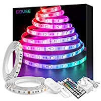 LED Strip Lights 10 Metre, Govee Waterproof RGB Strip Lighting Kit with Remote, Multicolour LED Rope Light with Bright 5050 LEDs for Indoor and Outdoor Decoration, 2pcs x 5m with UK Plug