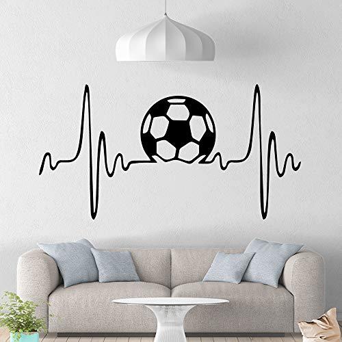 Moderne Fußball Wandbild Abnehmbare Wandtattoo Dekor Wohnzimmer Schlafzimmer Abnehmbare Wanddekoration Wandbilder grau L 43 cm X 83 cm -