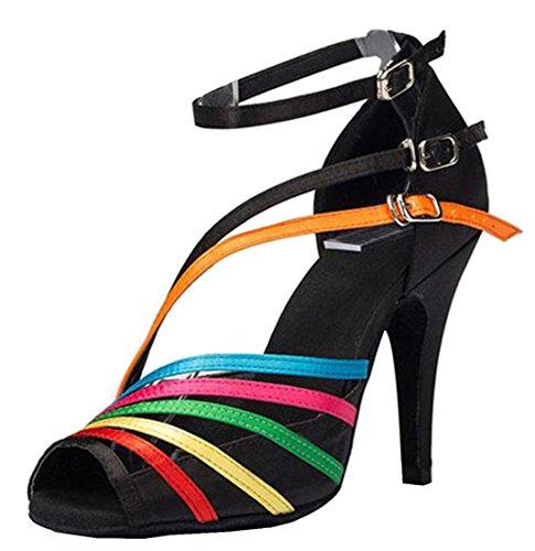 TDA ,  Damen Peep Toes 10cm Heel Black