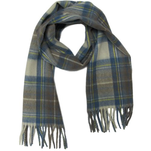 Châle en laine - tartan écossais - 15 couleurs disponibles - 152,5 x 30,5 cm Stewart bleu