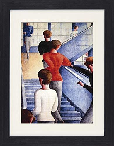 1art1 117077 Oskar Schlemmer - Bauhaustreppe, 1932 Gerahmtes Poster Für Fans Und Sammler 40 x 30 cm