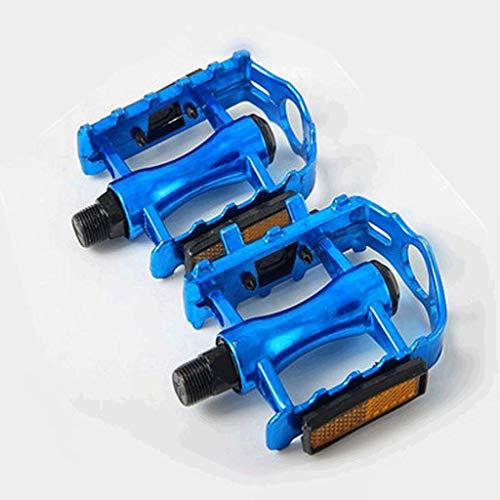 FCSW Fahrrad Pedal, Mountain Road Auto Pedal Fahrradpedal Anti-Rutsch-Pedal Modifikation Zubehör (Farbe : Blau)